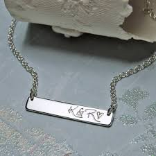 personalized silver bar necklace personalised silver bar necklace indivijewels