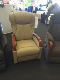 Lift Chair Leather London Lift Chair Recliner In Leather Pvc With Timber Arms Almond