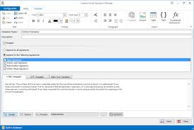 email signature manager screenshots