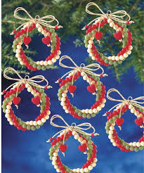 the beadery folk wreaths beaded ornament kit 123stitch