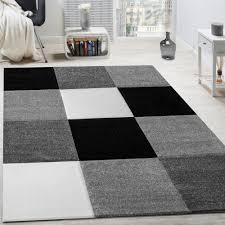 Wohnzimmer Grau Creme Teppich Modern Wohnzimmer Kurzflor Karo Design Grau Schwarz Weiß