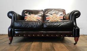 Distressed Chesterfield Sofa F50 1044 Style Cigar Brown Distressed Stud Leather