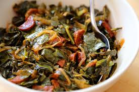thanksgiving recipe collard greens with chorizo and onions