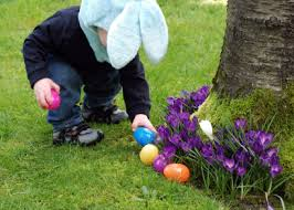 Easter Egg Hunt Garden Decorations by The Origin Of Easter Bunny And Colored Eggs