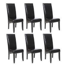 lot de 6 chaises salle à manger cuba lot de 6 chaises de salle à manger noires achat vente