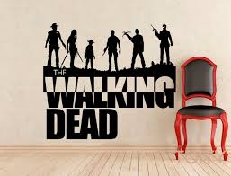 Walking Dead Wall Decal Zombie Movie Vinyl Sticker Retro Mural