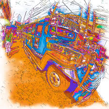 philippines jeepney for sale philippine walking by a jeepney drawing by rolf bertram