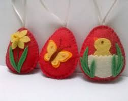 Easter Decorations Malta by Easter Eggs Set Spring Decor Felt Easter Decoration Easter