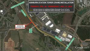 Map Of Silver Line Metro by Tower Crane Coming To Median Of The Dulles Greenway For Ashburn