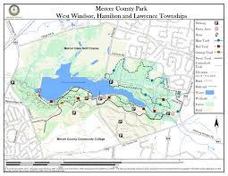 mercer map mercer county park jersey trails association