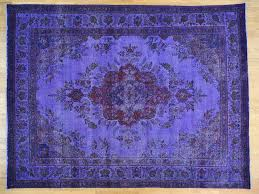 Large Purple Rugs 10 U0027 X 13 U0027 Purple Overdyed Persian Tabriz Hand Knotted Oriental Rug
