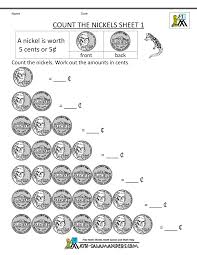 Free Printable Worksheets For Preschool Teachers Nickle Worksheets For Kindergarten Count The Nickels Sheet 1