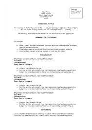 examples of resumes objective statement resume good statements for