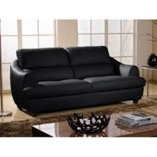 canapé cuir noir canape cuir 3 places noir la redoute