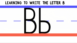 write the letter b abc writing for kids alphabet handwriting