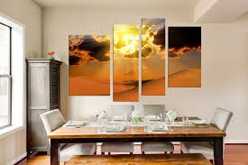 Dining Room Prints 4 Canvas Prints Landscape Wall Desert Canvas