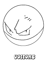 electrode pokemon coloring pages 4 olegandreev me
