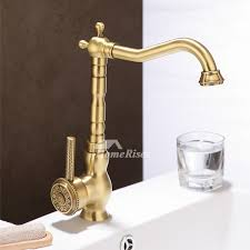 antique kitchen faucet kitchen faucets single handle carved single handle gold vessel rotatable