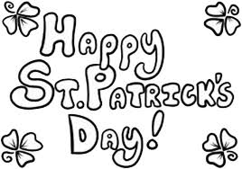 st patricks day backdrop decoration coloring page download