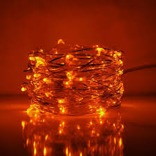 copper wire led lights 33 foot led fairy lights 100 orange micro led lights on copper wire