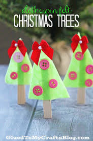 clothespin felt christmas trees kid craft christmas tree