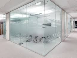 design a custom home office glass frosting designs define open space without
