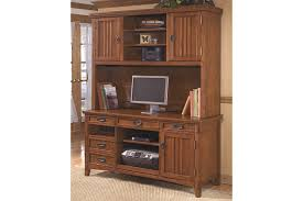 cross island 2 piece home office large credenza with large hutch