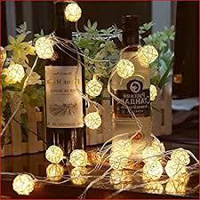 globe rattan string lights goodia 13 8feet 40