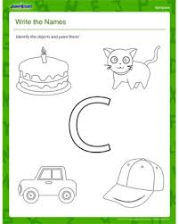 write the names elementary coloring worksheet places to visit