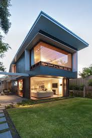 Contemporary Home Plans Chic Sydney House Extends Its Living Area With A Cool Glass Roofed