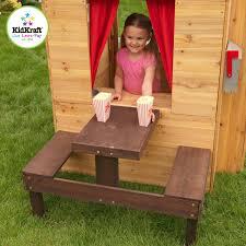 Kidkraft Outdoor Picnic Table by Kidkraft Modern Outdoor Playhouse 00182 U2013 Nurzery Com