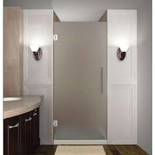Pictures Of Glass Shower Doors Frosted 3 8 Shower Doors Showers The Home Depot