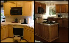 Resurfaced Kitchen Cabinets Before And After Resurfaced Kitchen Cabinets Before And After Home Decorating