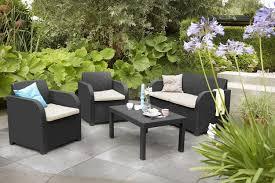 Patio Furniture Sets Uk - keter allibert carolina outdoor 4 seater rattan lounge garden