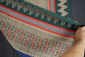 green tribal tapestry naga ethnic blanket tribal home decor