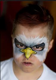 eagle face paint animal face painting ideas from around the
