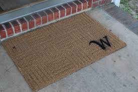 Front Door Carpet by Floor Tile Flooring With Brown Monogram Doormat Design Ideas For