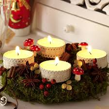 Table Decoration For Christmas Diy by Diy Festive Candle Centerpiece Christmas Table Lace Idea Forest
