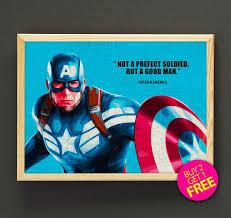 Superhero Home Decor Captain America Print Avengers Print Superhero Print Movie