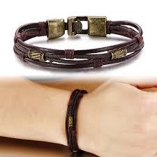 bracelet men leather images Leather bracelet for men retro style jpg