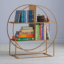decorating ideas fabolous circular bookshelf with brown wooden
