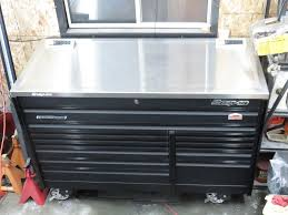 Tool Box Top Hutch Snap On Tool Box 68 Inch Extended Cab Stainless Dual Power Top