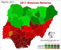 Map Of Nigeria Africa Echoes Of Biafra Geographical Patterns In Nigeria U0027s 2015 Election