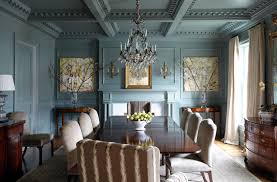 1930 u0027s fireplace and blue waratah wallpaper interiors by color