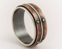 unique mens wedding band metalsmith jewelry artisan designer by gilleri on etsy