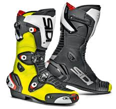 white motorbike boots sidi mag 1 boots yellow black free uk delivery