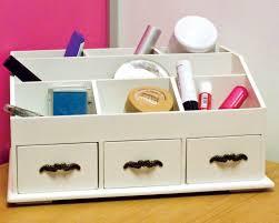 white wooden desk tidy organiser caddy pen holder tidy drawers