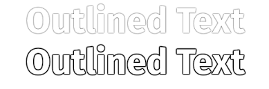 css outline effect to text stack overflow