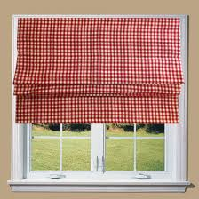 red gingham lined roman blind with fittings 6ft amazon co uk