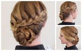 Fancy Hairstyles For Little Girls by Cute Easy Braided Updo Hairstyles For Little With Long Hair